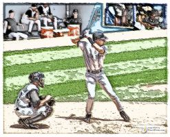 Jeter at Bat by PencilComic