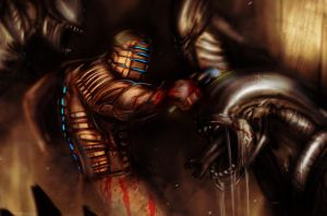 DEAD SPACE vs ALIEN by suspension99