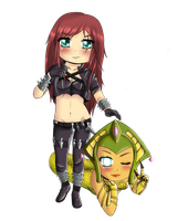 Katarina and Cassiopeia by xXxGongoronxXx