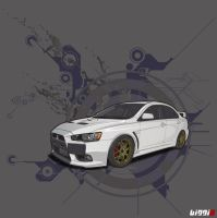 Mitsubishi EVO X by Biggiescallywag