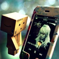 Danbo Discovers Music by AngeliqueRaindrops