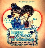 100th Day Anniversary by naomiyui