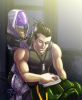 Commission: Tali an Shepard by Sternguard