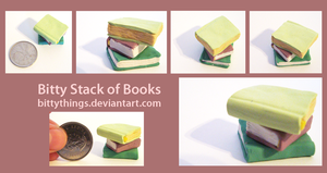 Nan's Book Stack - GIFT by Bittythings