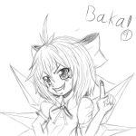 Cirno Sketch - Baka! by Primantis