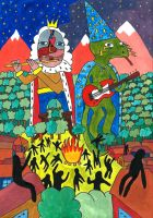 King Gizzard and The Lizard Wizard by VeronicaZi