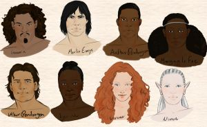 Alternative Arthurian Legend Character Sketches by TaraPrince
