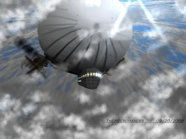 Dirigible in Flight by The-Necromancer