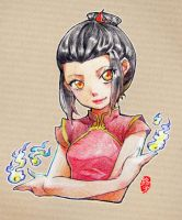 Young Azula in color pencil by kelly1412