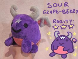 Sour grape-berry Dragorb plush by scilk