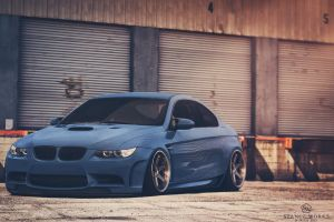 Stanced BMW M3 92 ''Wide Boy'' by Sk1zzo
