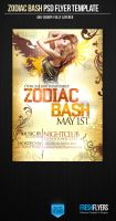 FREE! Zodiac Bash PSD Flyer Template by ImperialFlyers