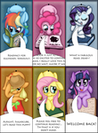 MLP - Mane 6 Bookmark Set by BatLover800