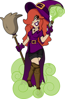 Halloween Witch by T-3000