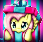 Commission: Flutters in a Box by ApplesToThe