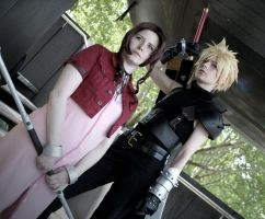 Aerith and Cloud by SerinuCeli