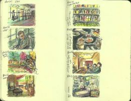 13 Moleskine Sketchbook by ange-of-the-top-hat