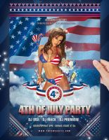 4th Of July Party Flyer Template by jellygraphics