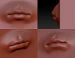 A sculpting test of lips by mangaanime