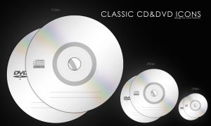 classic cd and dvd icons by bisiobisio