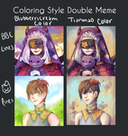 Colouring Style Double Meme by Stairfell