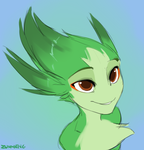 Green fluff by Zummeng