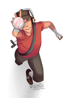 Scout loves his ball by NerdyLazorz