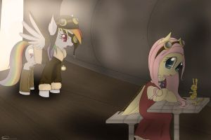 Fluttershy,my Tank is broken!QwQ by SilberSternenlicht