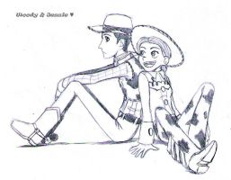 Woody and Jessie by lizbomb