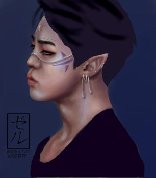 Elf Jimin WIP by Eternal--Art
