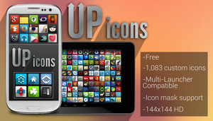 UP icon pack (1088 free icons) by uppack