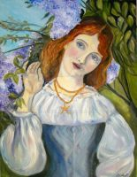 The Lady with the Lilacs by Schnellart