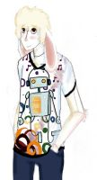 In a robot Tee :3 by Creativelyinsane