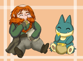 The Hobbit / Pokemon - Bombur by ValiChan