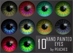 Hand Painted Eyes by JU5TPeachy