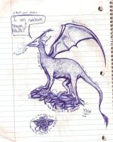 note book dragon by charly-d-squirrel
