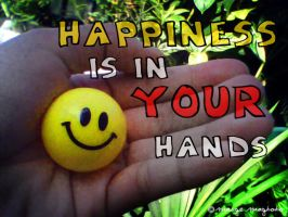Happiness is in your hands by margemagtoto