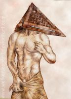 Pyramid Head (sepia brown) by Wolkenleopard