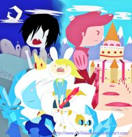 adventure time with cake and fionna by Lezzette