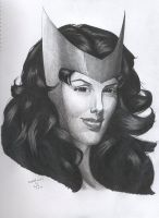 Scarlet Witch portrait by RogueDerek