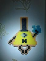 Bill Cipher Beadsprite by Griffonmender