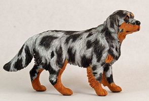 Customized dog figure- blue merle mixed breed by Tephra76
