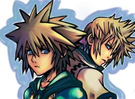 Sora and Roxas- The Somebody and the Nobody by destinys-hope