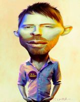 Thom Yorke caricature by fantasio