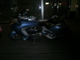 motorcycle at night 7 by LuchareStock