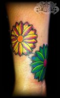 Two flowers by state-of-art-tattoo