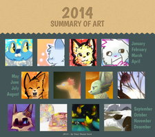 Cotton's 2014 Art Summary by destinedMagikarps
