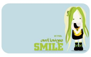 AVRIL SMILE CUTE WALLPAPER by fuelavriling