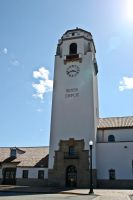 Depot Clock and Bell Tower by ShawnHenry