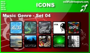 Music Genre Icons - Set 04 by od3f1